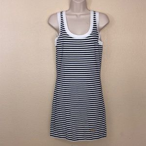 FENDI Navy/White Stripe Tank Dress